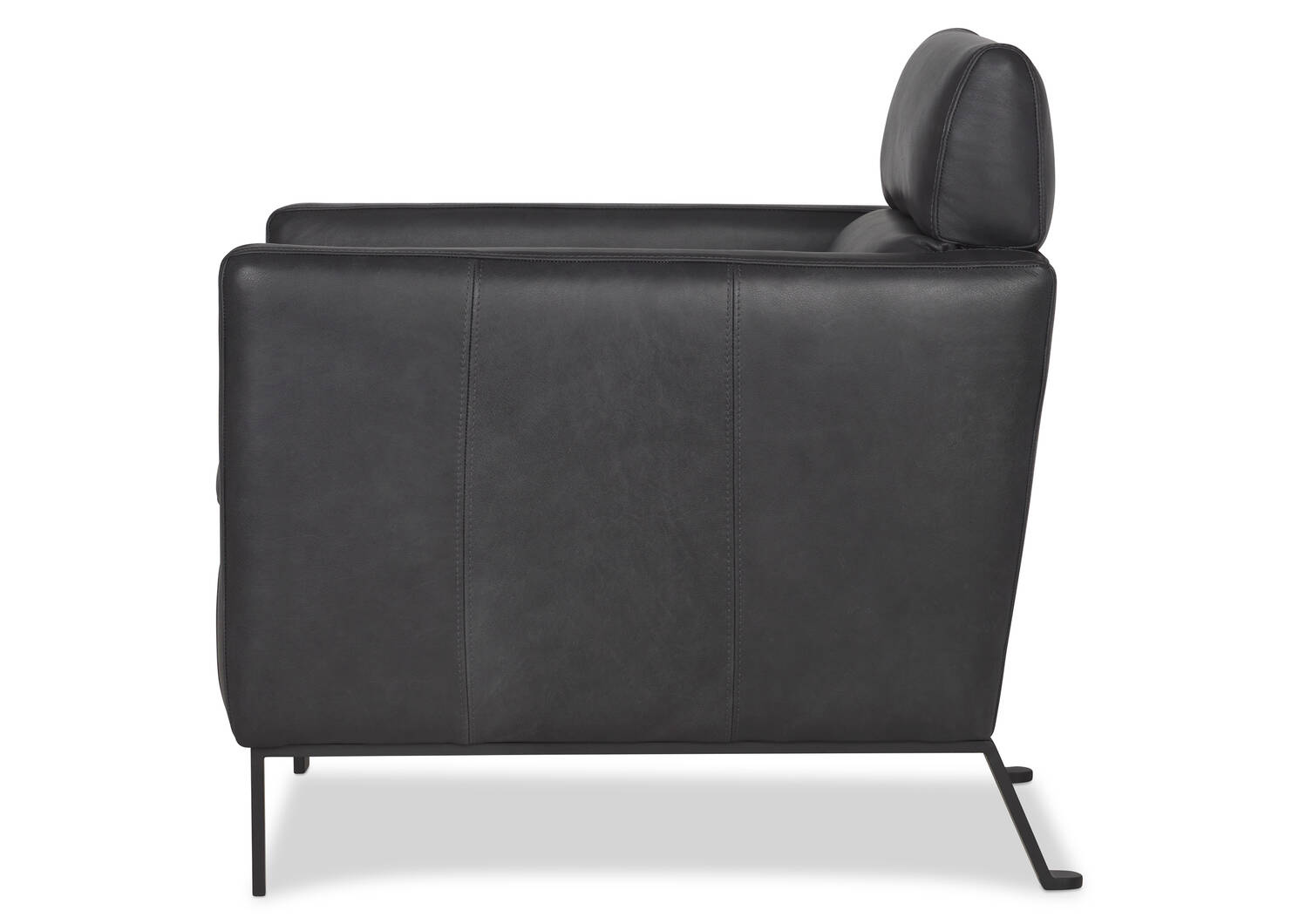 Camilo Leather Armchair -Vista Shadow
