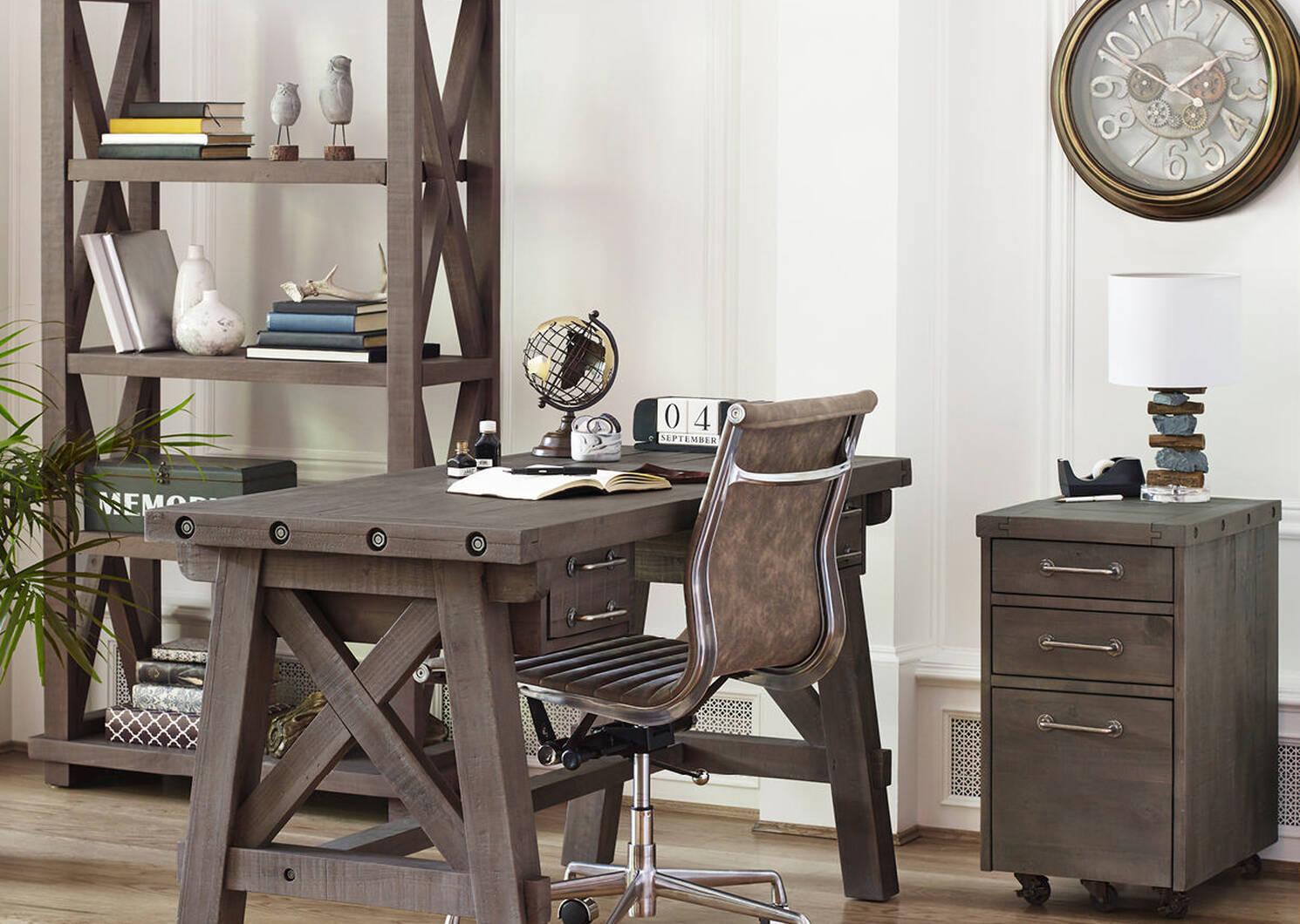 Bureau travail Ironside -gris rustique