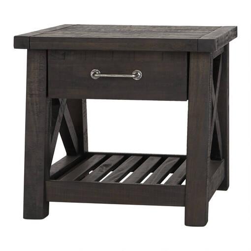 Table d'appoint 1 tiroir Ironside -café