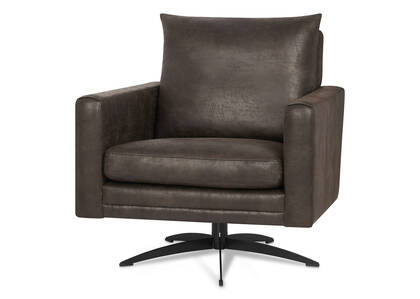 Elba Swivel Armchair -Pierre Smoke