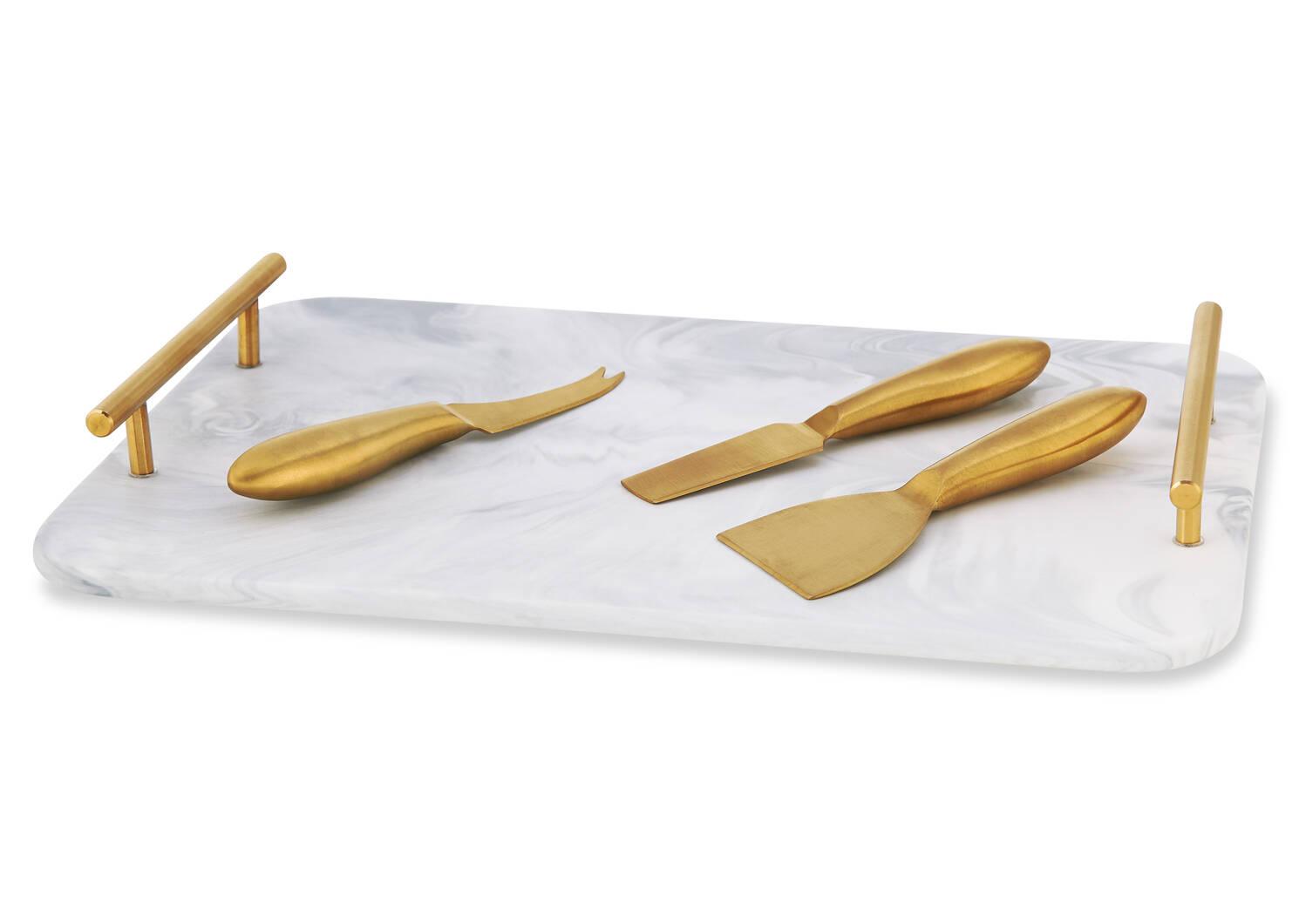 Plateau pour fromages Carrara 4 p laiton