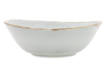 Crofton Glazed Serving Bowl Light Grey