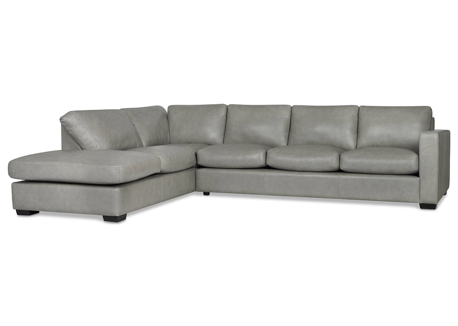 Brewer Custom Leather Sectional