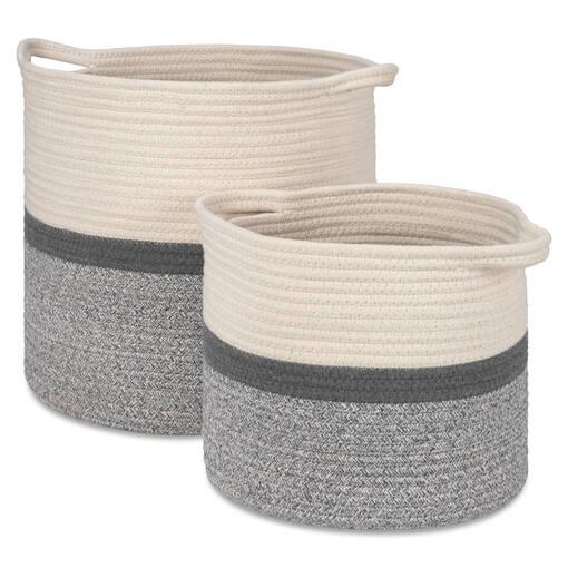 Paniers Allie -naturels/gris