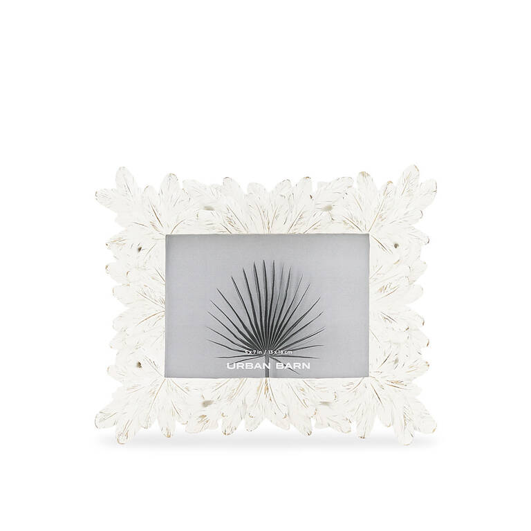 Hojas Frame 5x7 White
