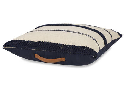 Virginia Floor Cushion Natural/Midnight