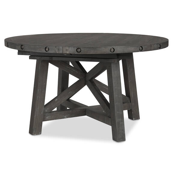 Ironside Ext Dining Table Rnd -Smoke