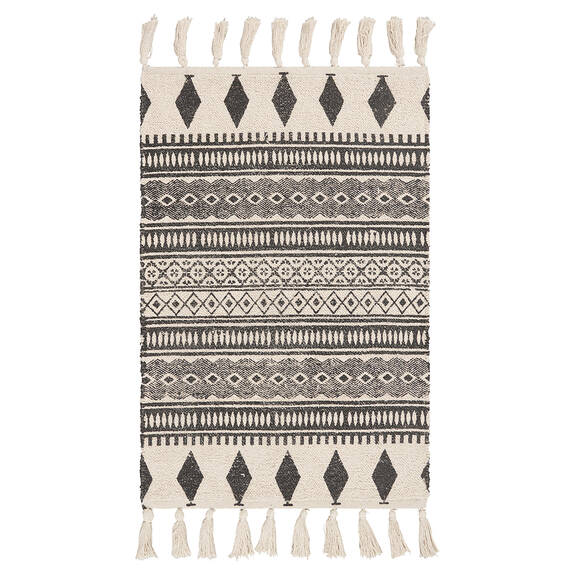 Waverly Accent Rug - Black/Natural