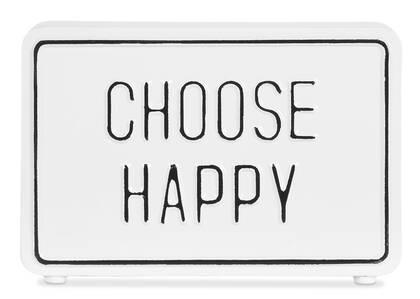 Bloc écriteau Choose Happy