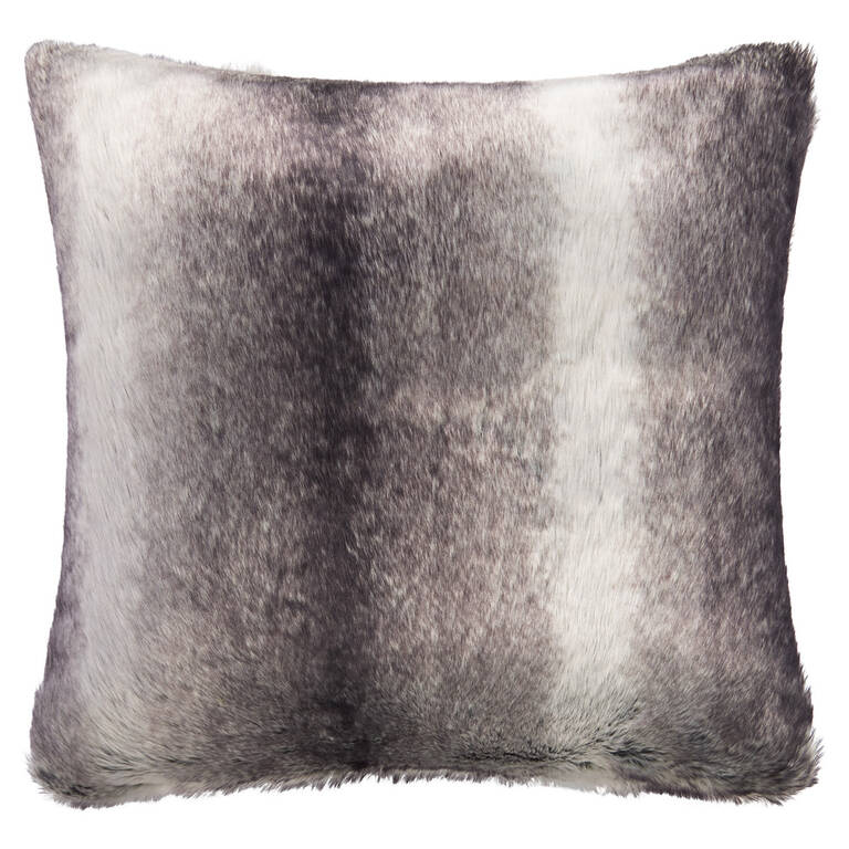 Haven Faux Fur Toss 24x24 Grey Wolf