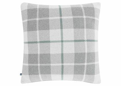 Teagan Plaid Toss 20x20 Gr/Nat/SilverPin