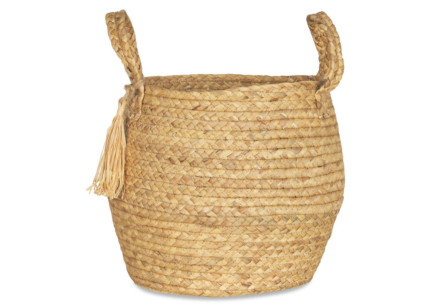 Estefany Tassel Baskets Natural