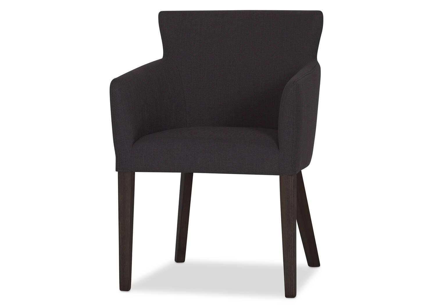 Jenaya Arm Dining Chair -Amos Charcoal