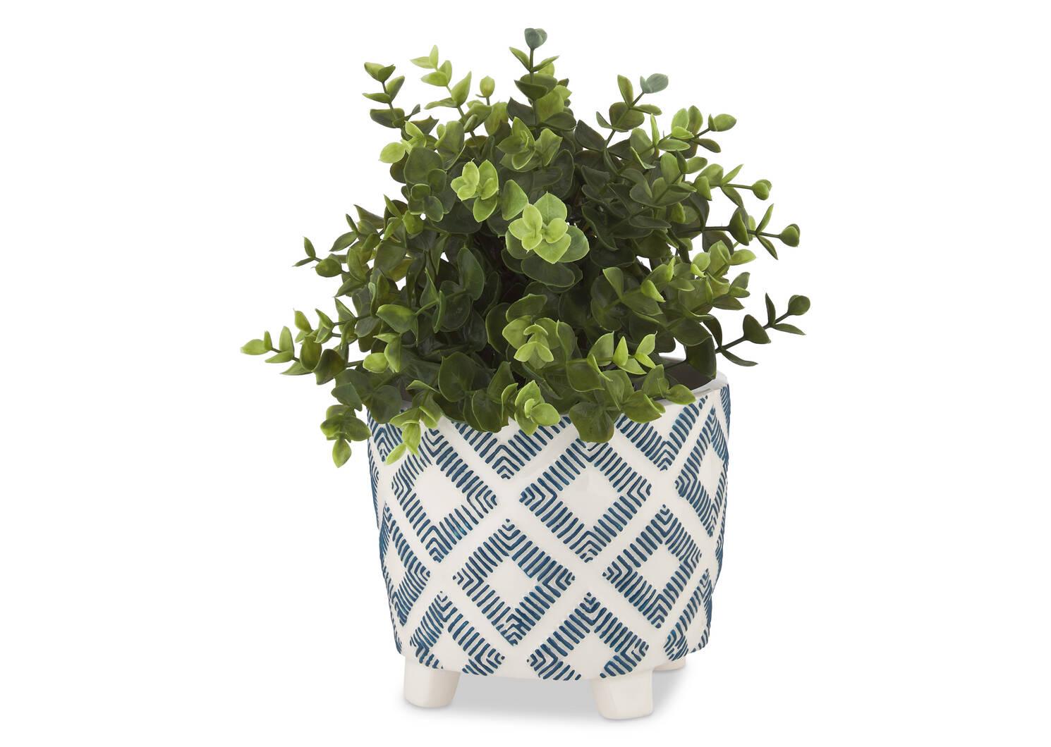 Jora Vase Atlantic/White