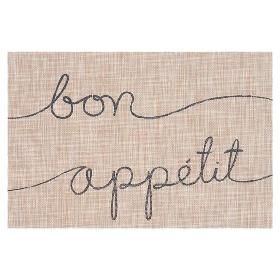 Bon Appétit Placemat Natural/Grey