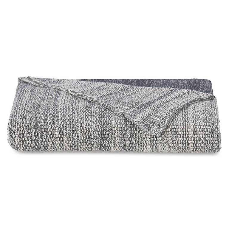 Hammond Cotton Throw Natural/Grey