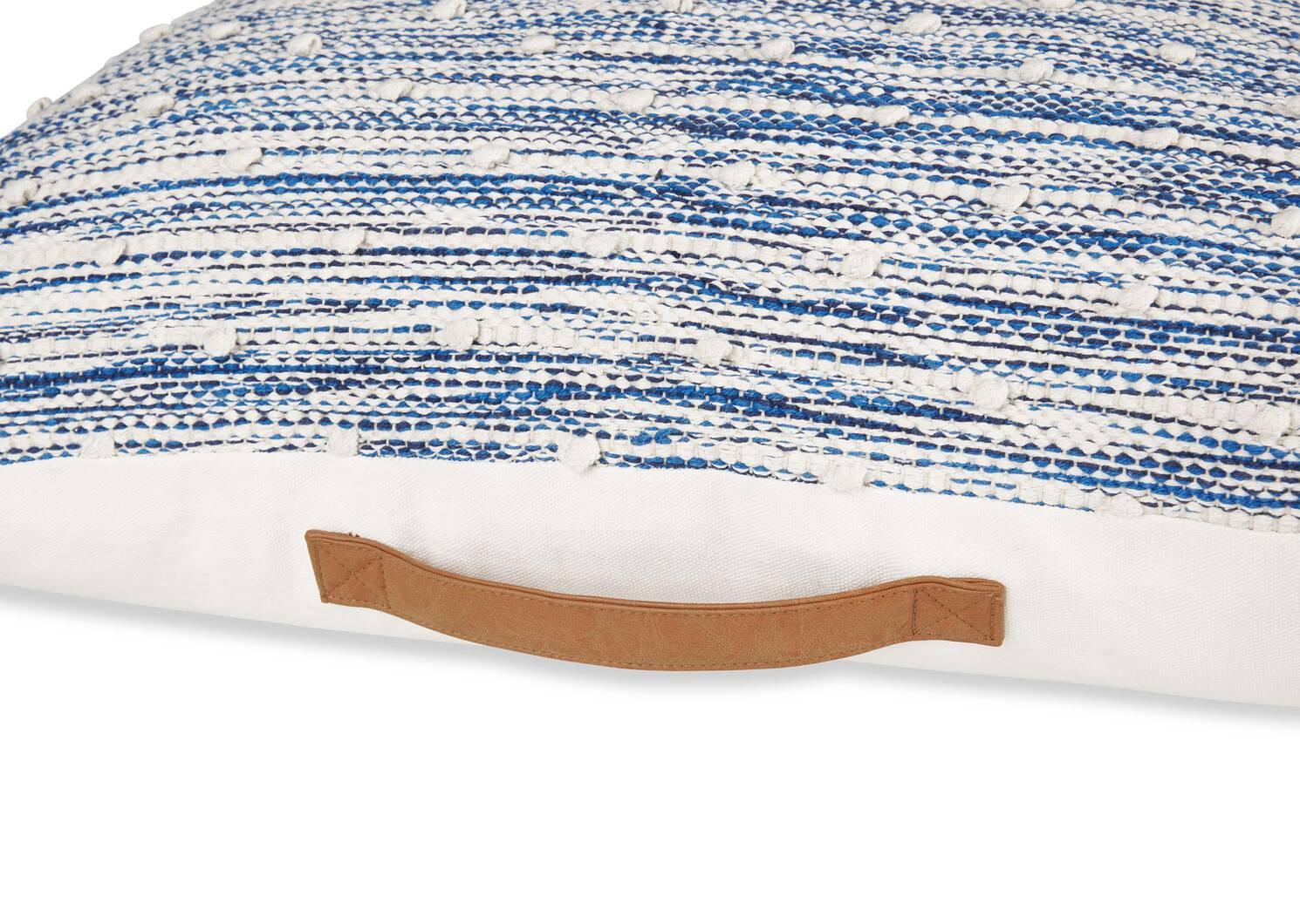 Coussin de sol McLeod bleu/ivoire