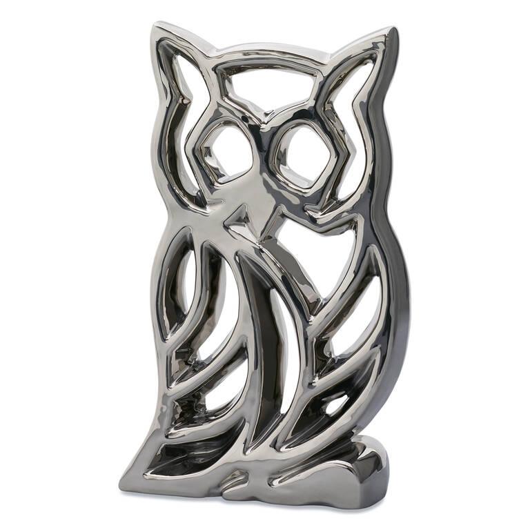 Odette Owl Decor Silver
