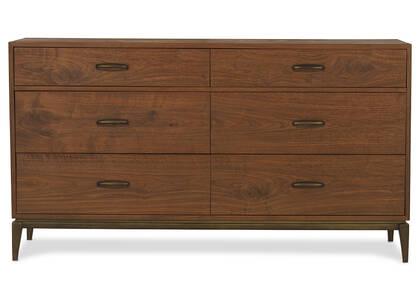 Bureau 6 tiroirs Houston -Harris noyer