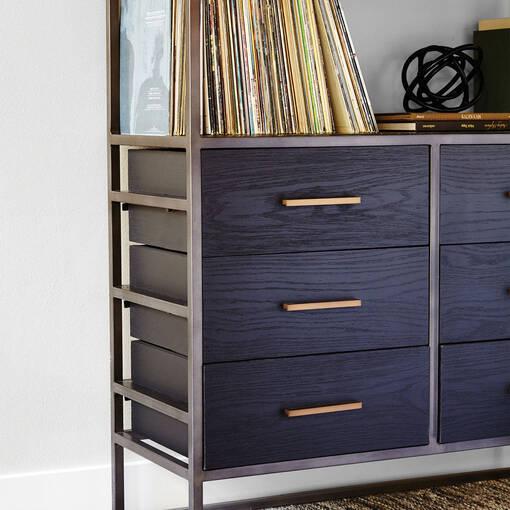 Lenyx Lg Bookshelves -Ebony Oak