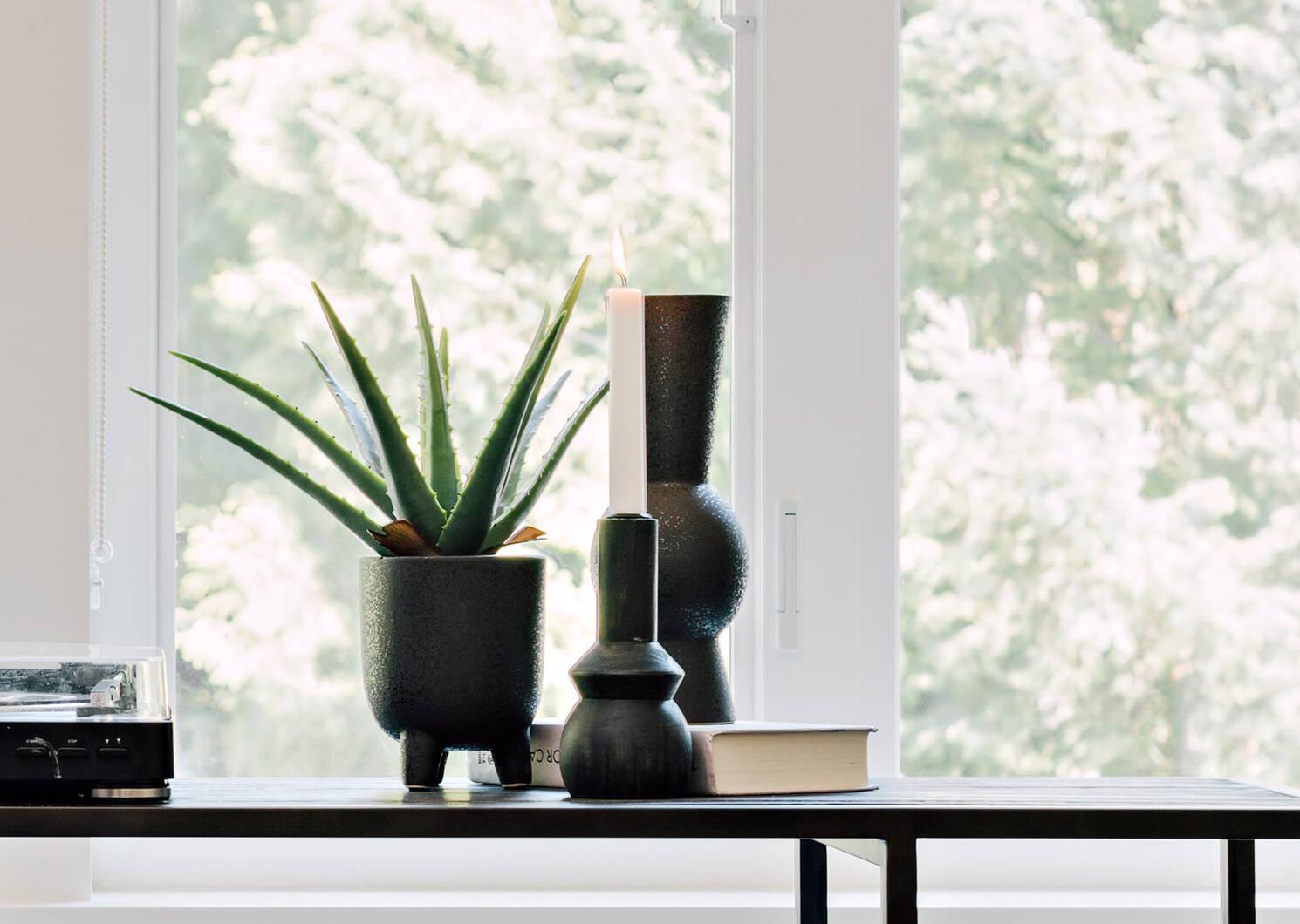 Grand vase Eliana noir