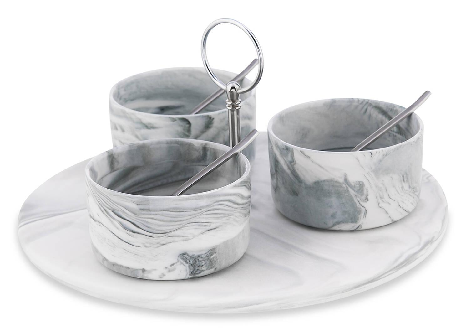 Carrara 7pc Tapas Set w/ Rd Tray Nick