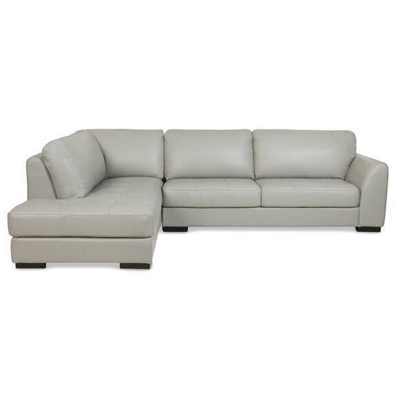Boone Leather Sofa Chaise -Dove