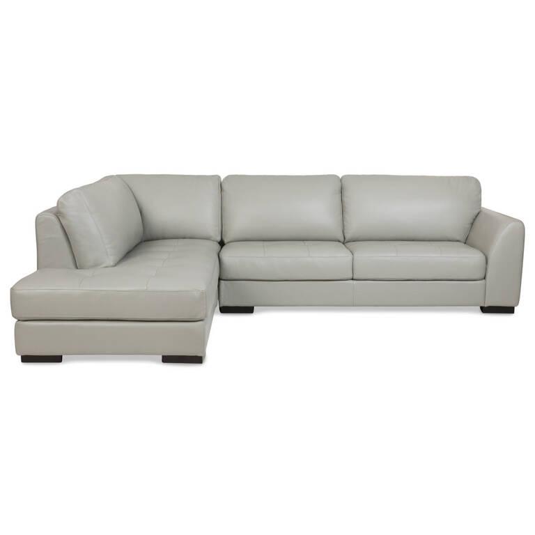 Boone Leather Sofa Chaise -Dove, LCF