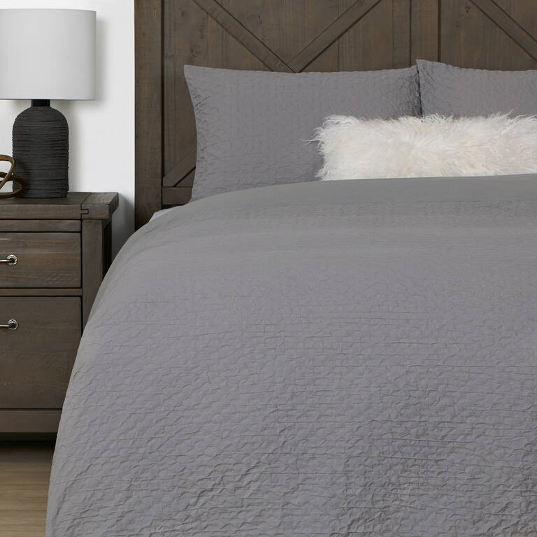 Darcy Duvet Set Queen Pebble