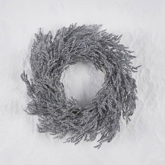Arista Glitter Wreath Silver