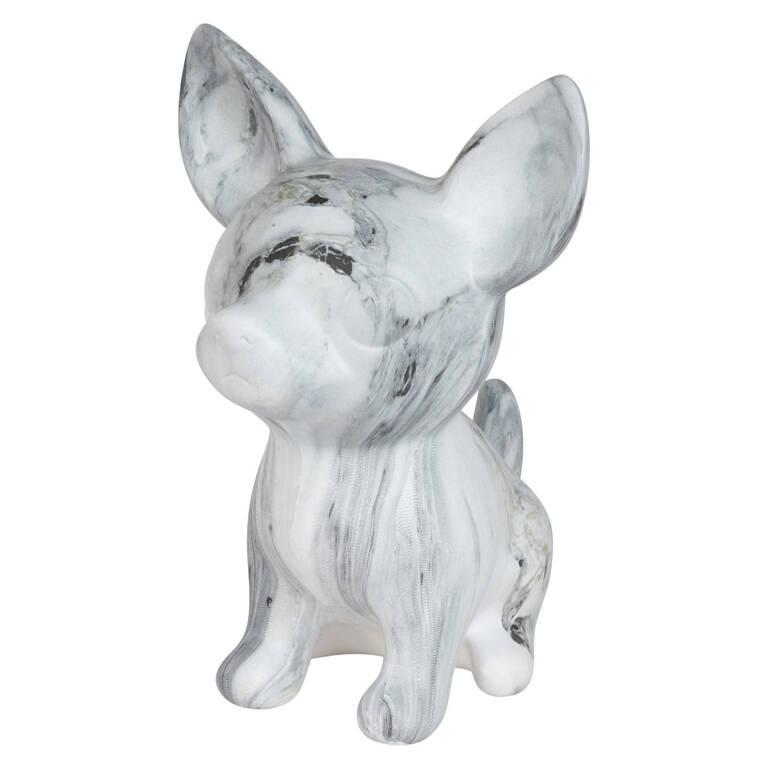 Statuette chien Brutus marbrée