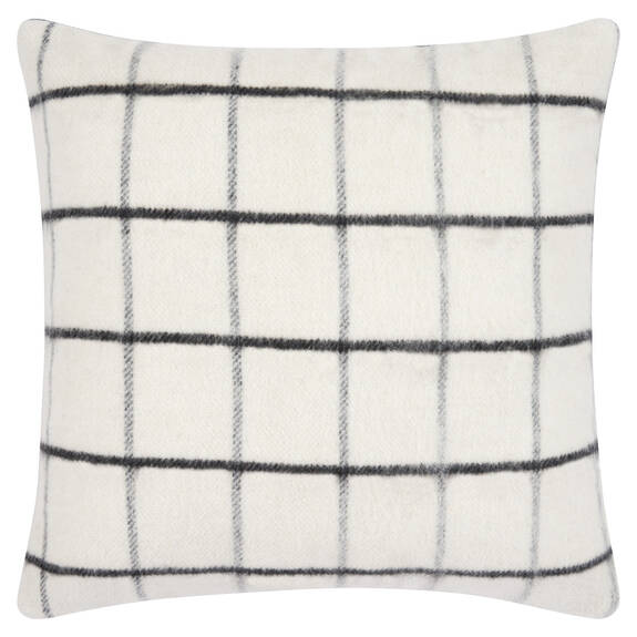 Sylvie Plaid Toss 20x20 Ivory/Black
