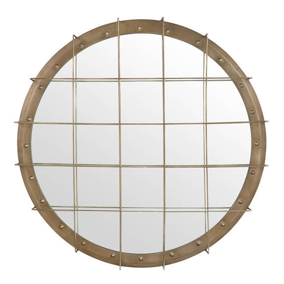 Porter Wall Mirror Brass