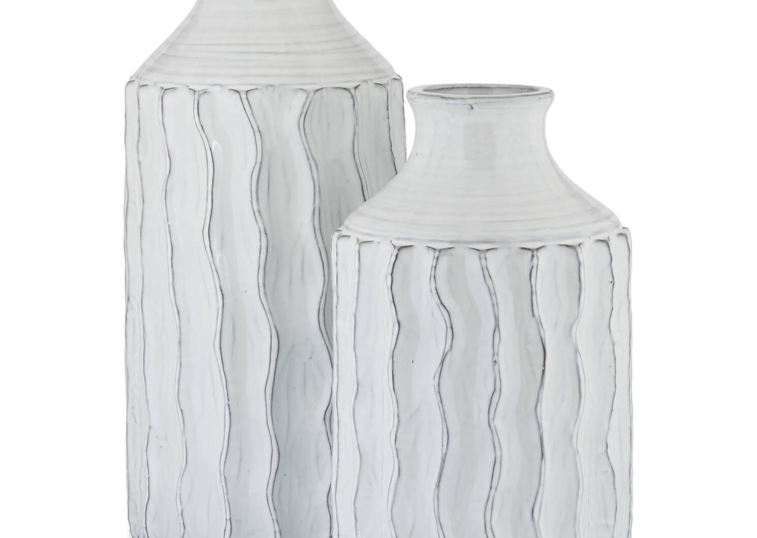 Theros Vase Small White/Black