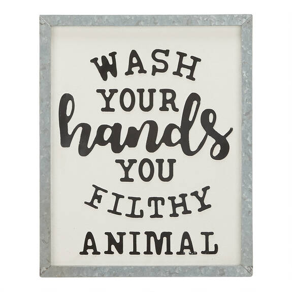 Filthy Animal Wall Plaque