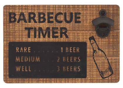 BBQ Timer Bottle Opener
