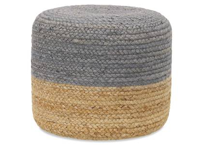 Granger Pouf Grey/Natural