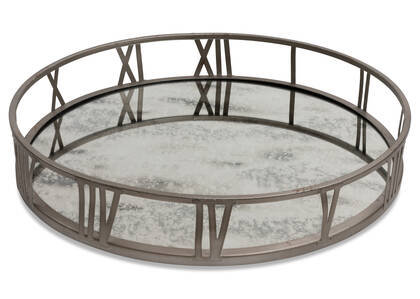 Galena Mirrored Tray Round