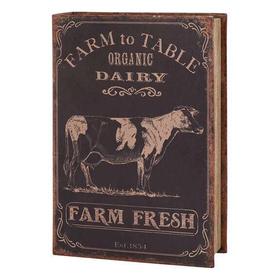 Grande boîte-livre Farm Fresh noire