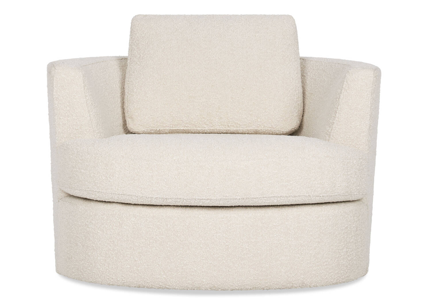 Beverly Swivel Chair -Amalie Ivory