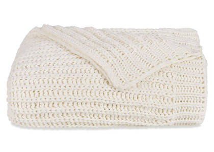 Cavendish Chenille Throw Ivory