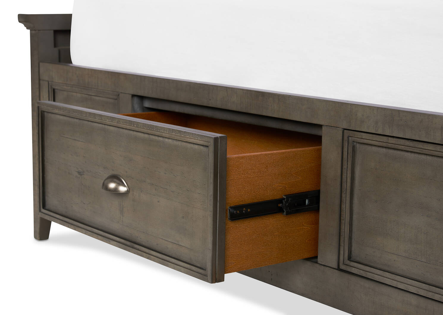 Parker Storage Bed -Heron Grey, QUEEN