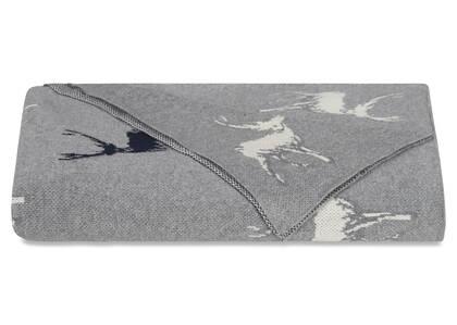Dancer Reindeer Throw Grey