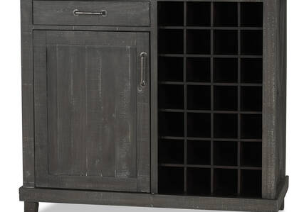 Ironside Wine Cabinet -Smoke