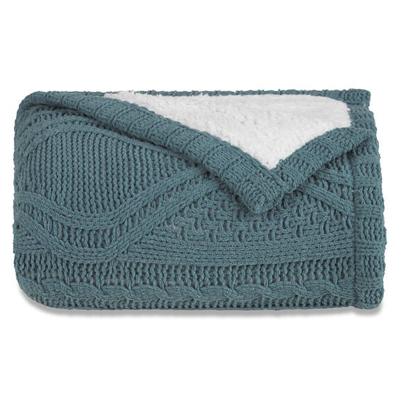 Lisette Sherpa Throw Pond