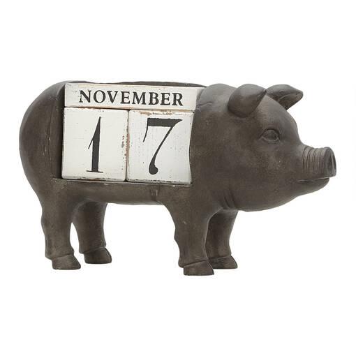 Calendrier perpétuel cochon Peggy