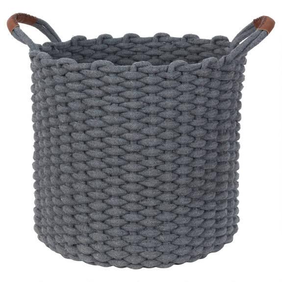 Corde Laundry Basket Grey