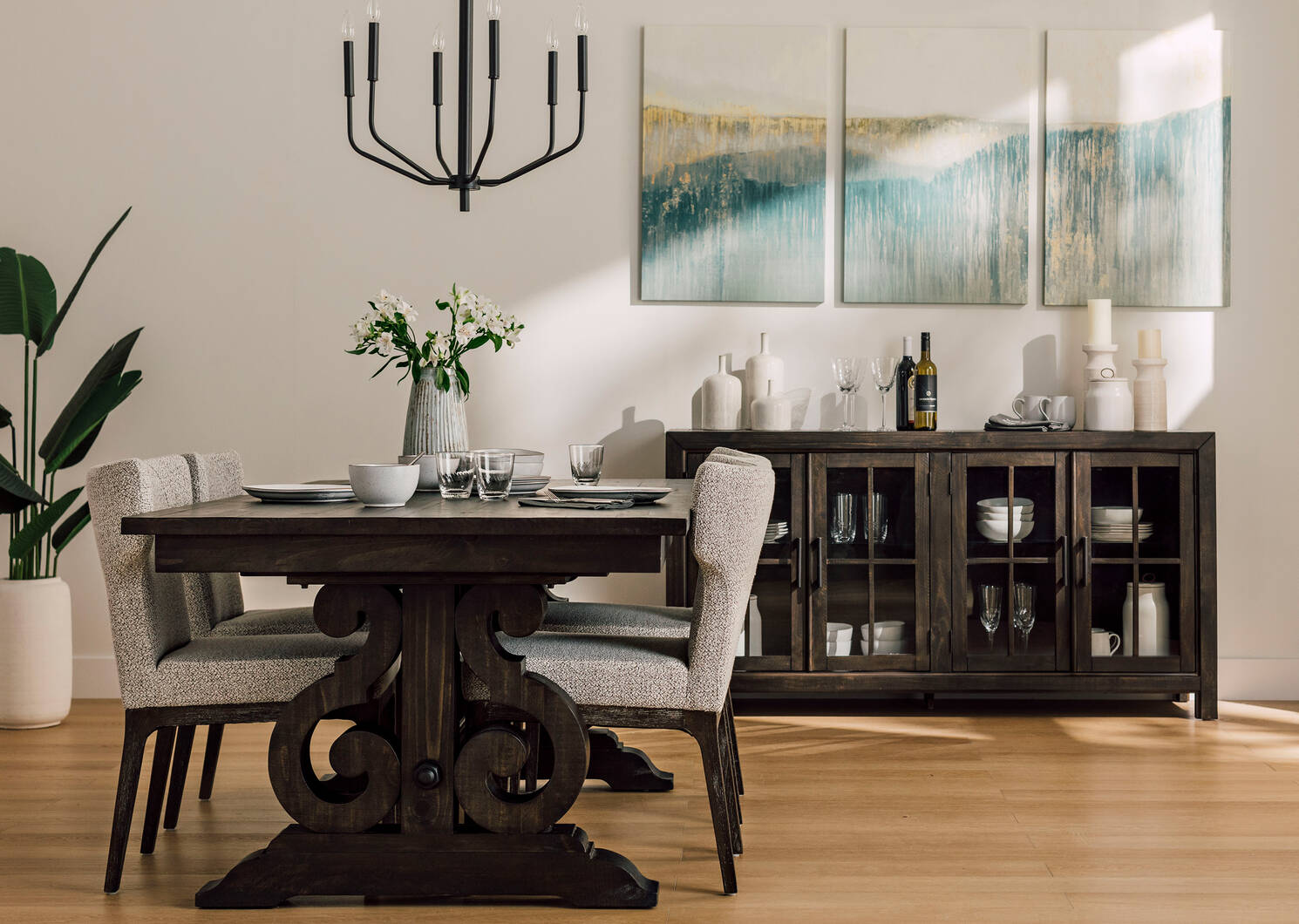 Churchill Ext Dining Table -Sutter Carob