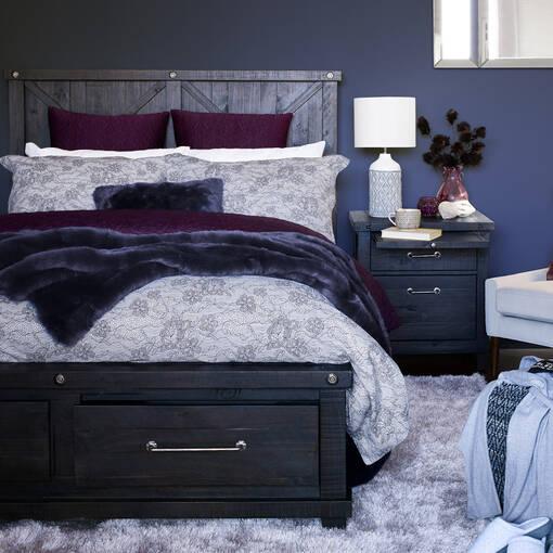 Ironside Storage Bed -Café