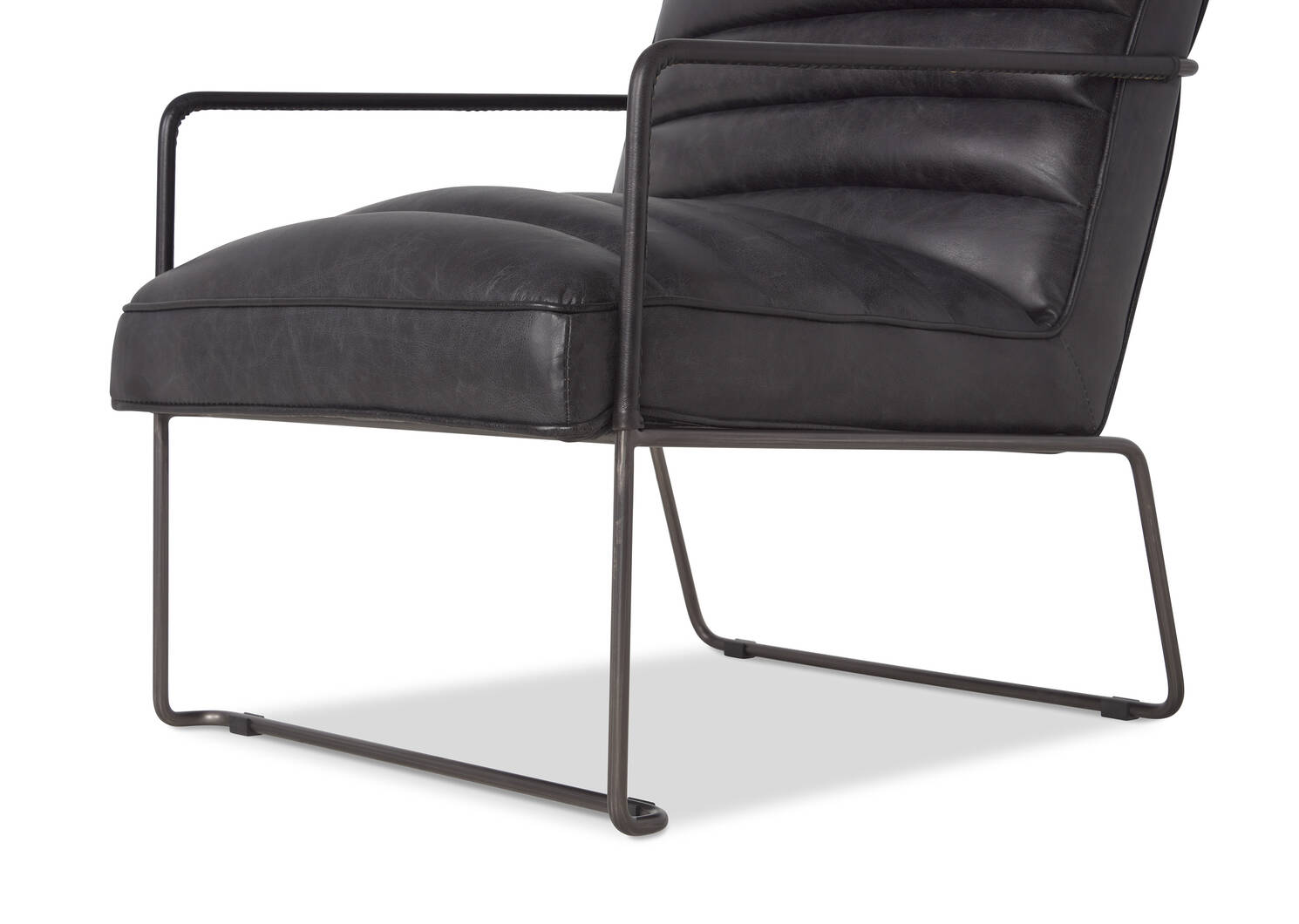 Damarco Leather Armchair -Alta Slate